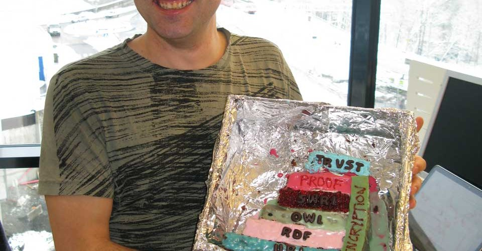 David Norheim and his semantic cake